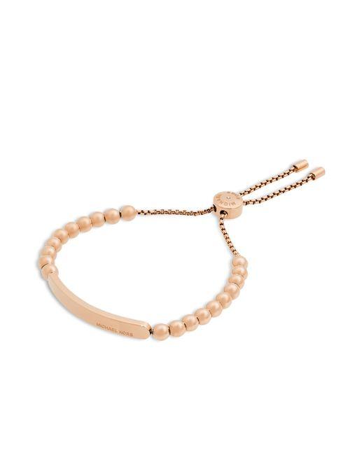 Michael Kors | Metallic Pave Bar Slider Bracelet - Rose Gold | Lyst