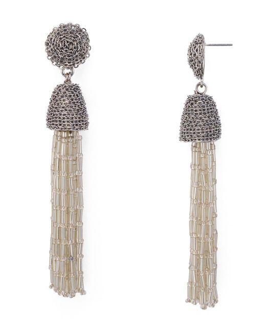 Aqua - Metallic Shaky Drop Earrings - Lyst