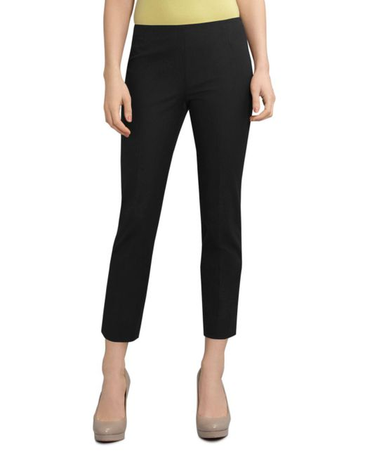 Lafayette 148 New York - Black Jodhpur Cloth Cropped Bleeker Pants - Lyst