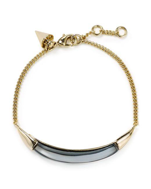 Alexis Bittar | Metallic Thin Bangle Bracelet Gold | Lyst