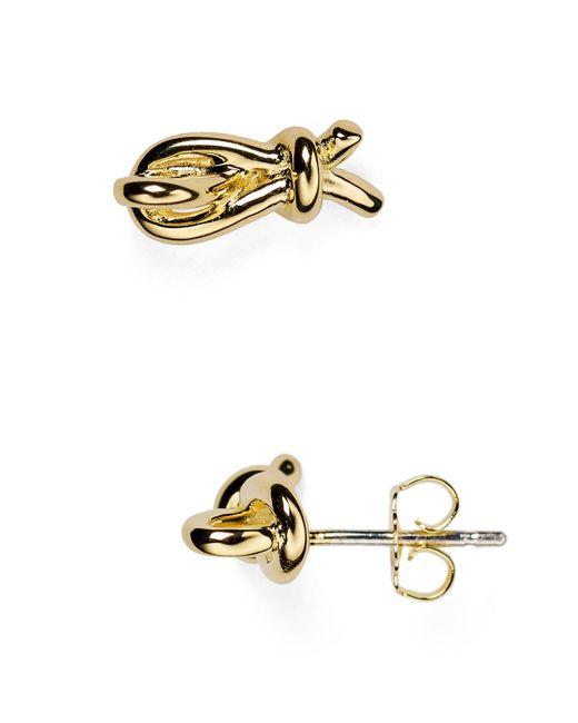 Elizabeth and James | Metallic Talis Knot Stud Earrings | Lyst