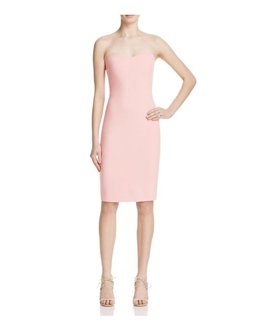 Likely | Pink Lauren Strapless Dress | Lyst