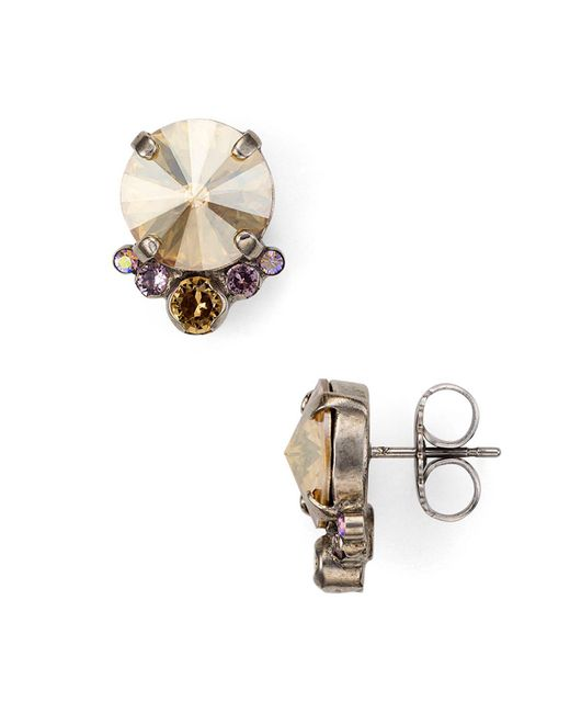 Sorrelli - Multicolor Circle Cluster Earrings - Lyst