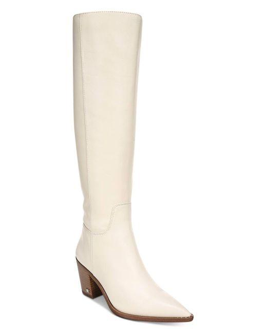 Sam Edelman White Women's Lindsey Western Tall Boots