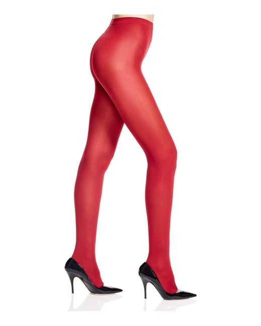 Wolford | Red Velvet Deluxe 66 Tights | Lyst