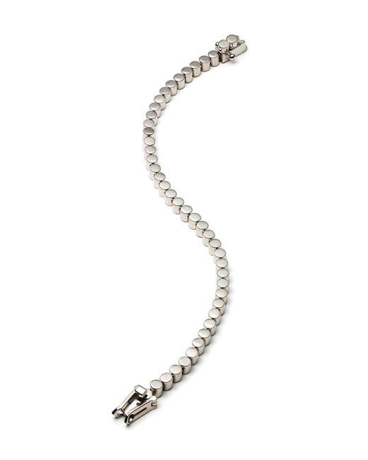 Eddie Borgo | Metallic Rhodium Plated Pave Crystal Mini Cone Bracelet | Lyst