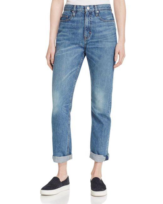 Elizabeth and James   Blue Jimi Distressed Jeans   Lyst