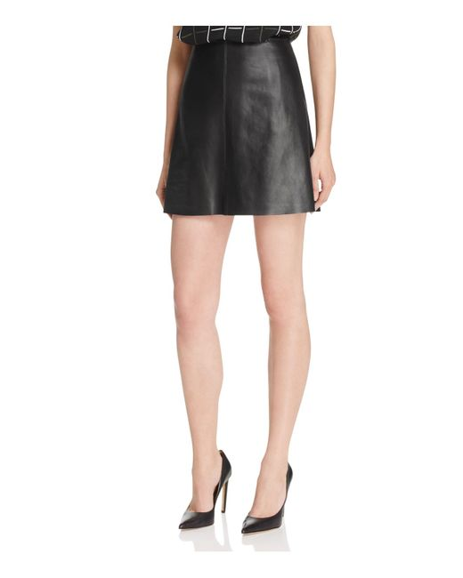 theory irenah wilmore leather skirt 100 bloomingdale s
