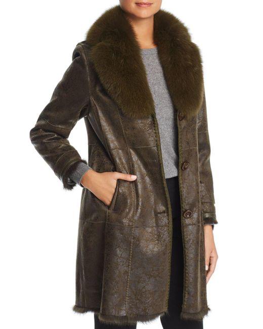 Maximilian - Multicolor Rabbit Fur Coat With Fox Fur Collar - Lyst