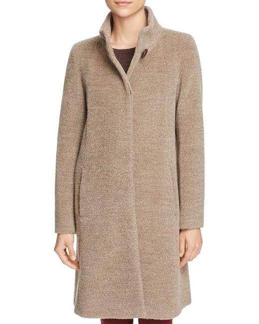 Cinzia Rocca Wool Amp Alpaca Coat In Multicolor Lyst