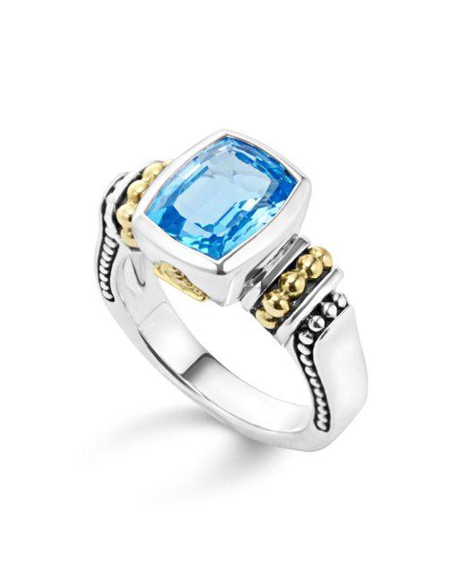 Lagos - Blue 'caviar Color' Medium Semiprecious Stone Ring - Lyst