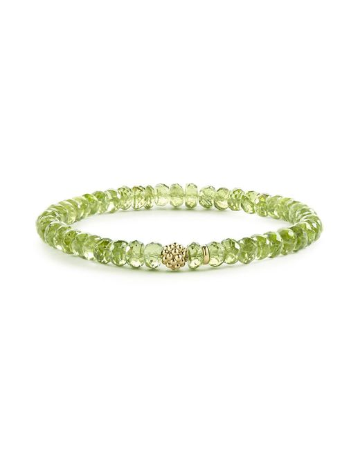 Lagos | Green Caviar Icon Peridot Bracelet With 18k Gold Caviar Station | Lyst