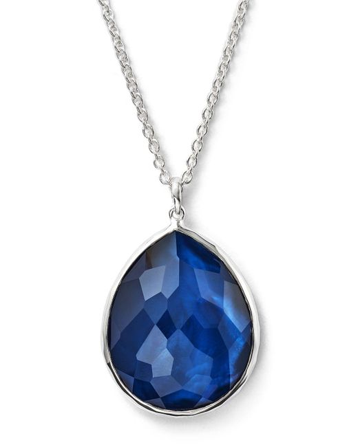 Ippolita | Blue 'rock Candy' Teardrop Pendant Necklace | Lyst