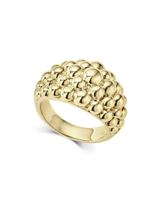 Lagos - Metallic Caviar Gold Collection 18k Gold Domed Ring - Lyst