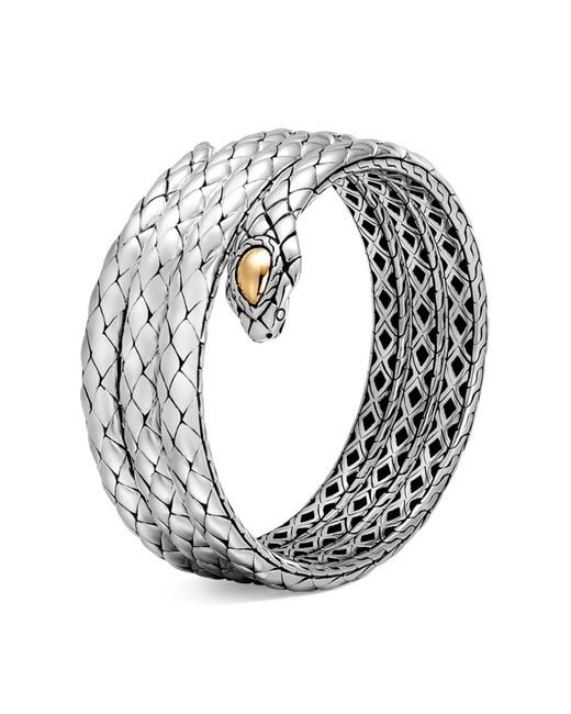 John Hardy | Metallic 18k Yellow Gold And Sterling Silver Legends Cobra Triple Coil Bracelet | Lyst