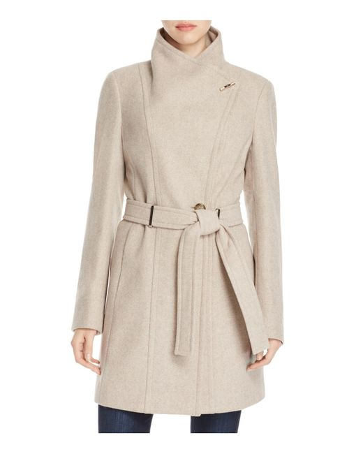 Calvin Klein | Natural Toggle Wrap Coat | Lyst