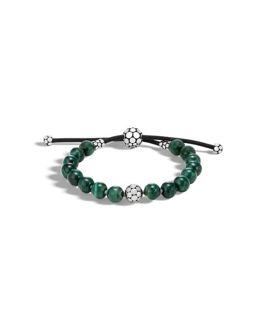 John Hardy | Green Sterling Silver Dot Bead Bracelet With Malachite | Lyst