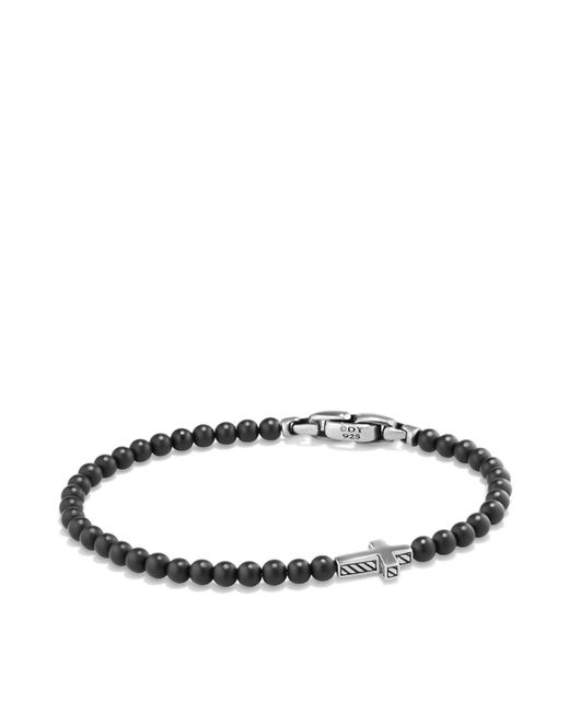 David Yurman   Metallic Spiritual Beads Cross Bracelet With Black Onyx In Sterling Silver   Lyst