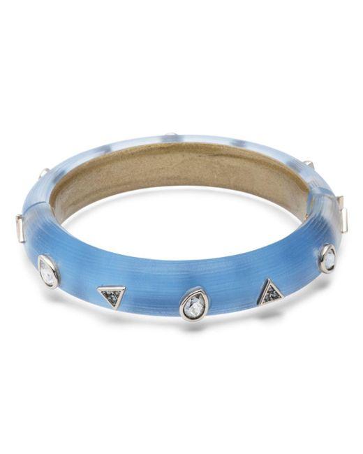 Alexis Bittar Blue Geo Hinge Bracelet