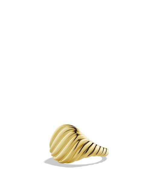 David Yurman | Metallic Cable Pinky Ring In Gold | Lyst