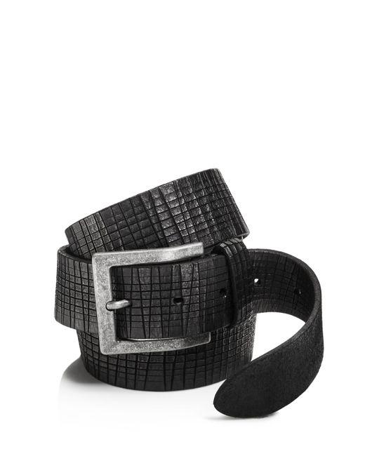John Varvatos   Black Artisan Textured Leather Belt for Men   Lyst