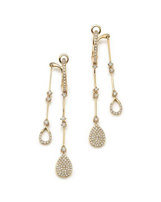 KC Designs | 14k Yellow Gold Diamond Micro Pavé Front-back Drop Earrings | Lyst