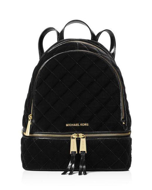 Michael Michael Kors Rhea Medium Velvet Zip Backpack In