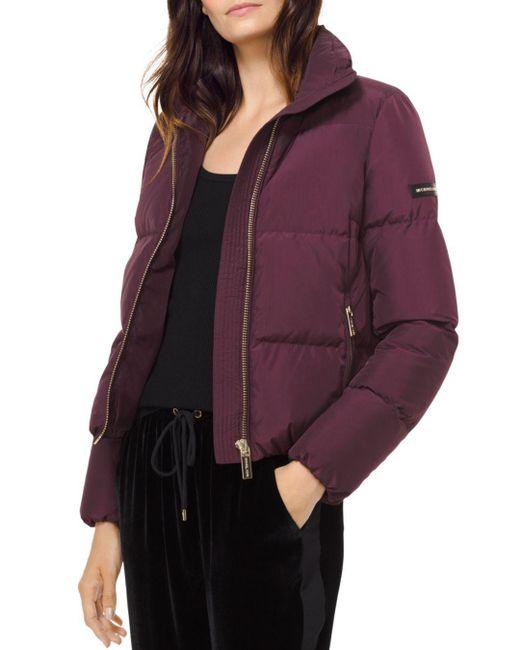 MICHAEL Michael Kors - Purple Puffer Jacket - Lyst
