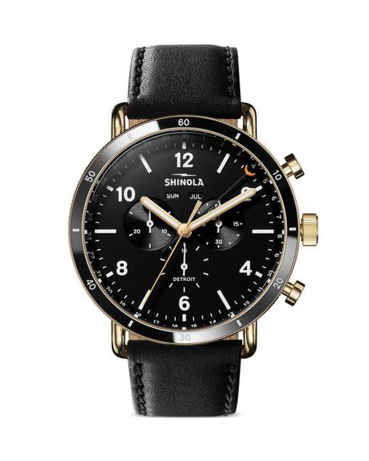 Shinola Black Canfield Sport Chronograph for men