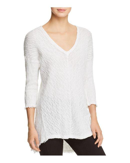 XCVI   White Ida Textured Sweater   Lyst