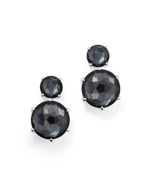 Ippolita | Multicolor Sterling Silver Rock Candy® Two Stone Doublet Drop Earrings In Clear Quartz And Hematite | Lyst
