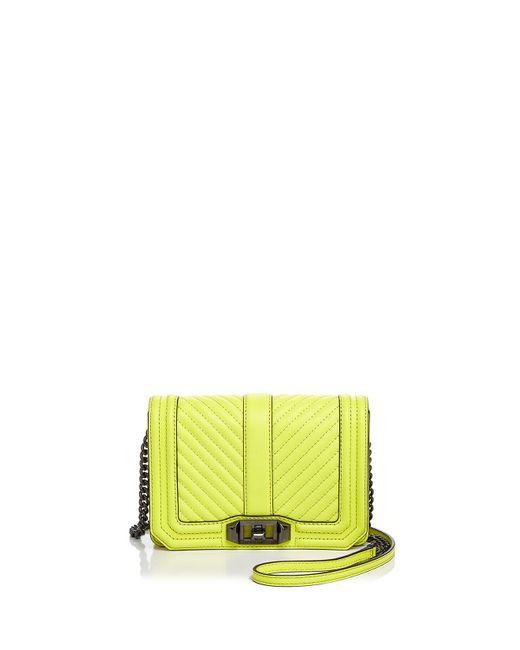 Rebecca Minkoff | Multicolor Love Chevron Quilt Small Leather Crossbody | Lyst