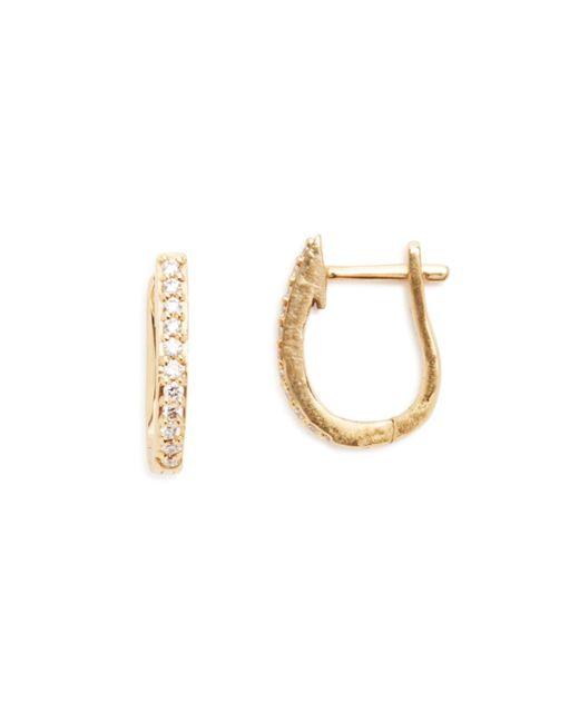 Links of London   Metallic Gold & Diamond Hoop Earrings   Lyst