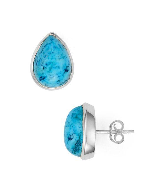 Argento Vivo   Blue Faceted Teardrop Stud Earrings   Lyst
