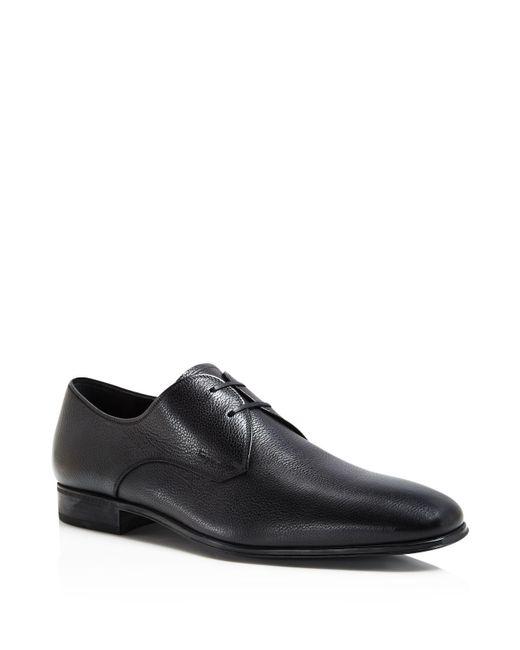Ferragamo | Black Fortunato 2 Derby Shoes for Men | Lyst