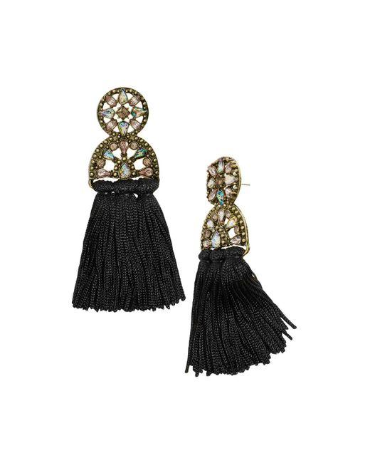 Lyst Baublebar Pisa Tassel Drop Earrings In Black