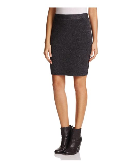Eileen Fisher | Black Knit Pencil Skirt | Lyst