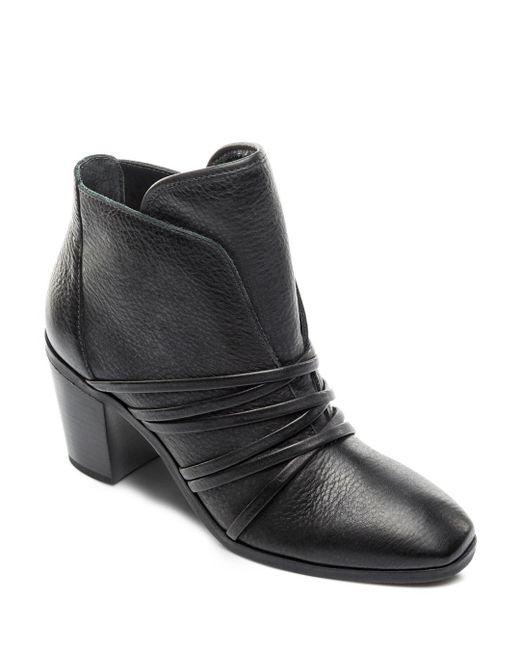 Bernardo - Black Women's Leather Strappy Booties - Lyst