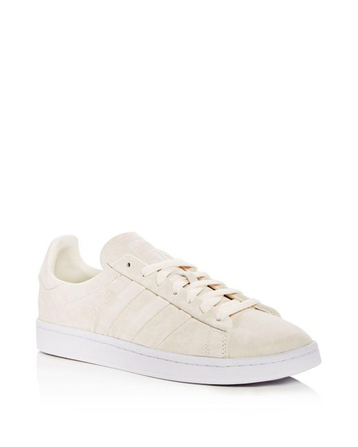 Adidas - White Men's Campus Suede Lace Up Sneakers for Men - Lyst