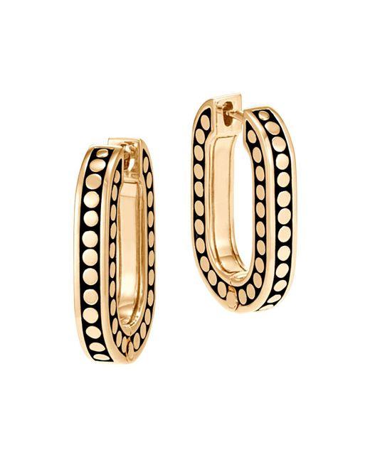 John Hardy | Metallic 18k Yellow Gold Dot Small Link Earrings | Lyst