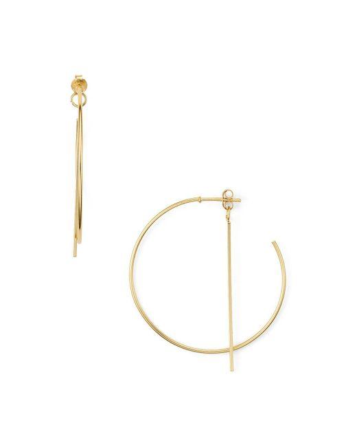 Argento Vivo | Metallic Thin Bar Drop Hoop Earrings | Lyst