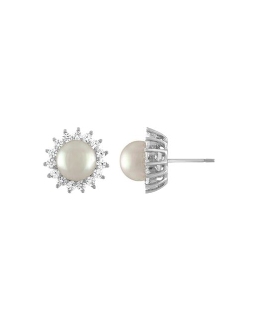 Majorica - Multicolor Simulated Pearl Sunburst Stud Earrings - Lyst