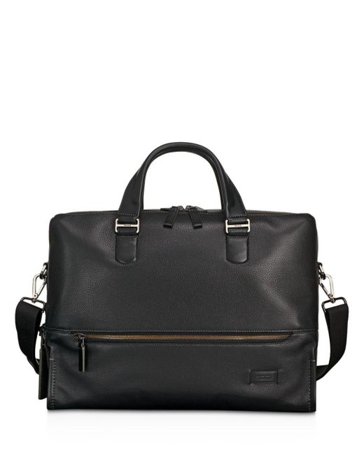 Tumi - Black Harrison Leather Horton Double Zip Briefcase - Lyst