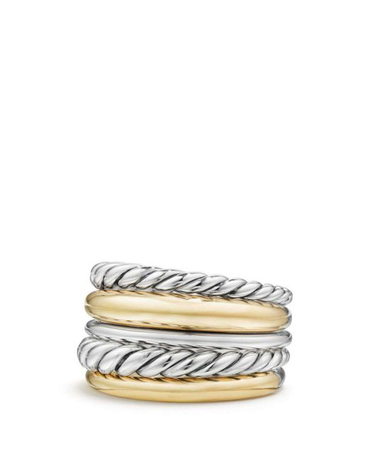David Yurman - Metallic Pure Form Wide Ring With 18k Gold - Lyst