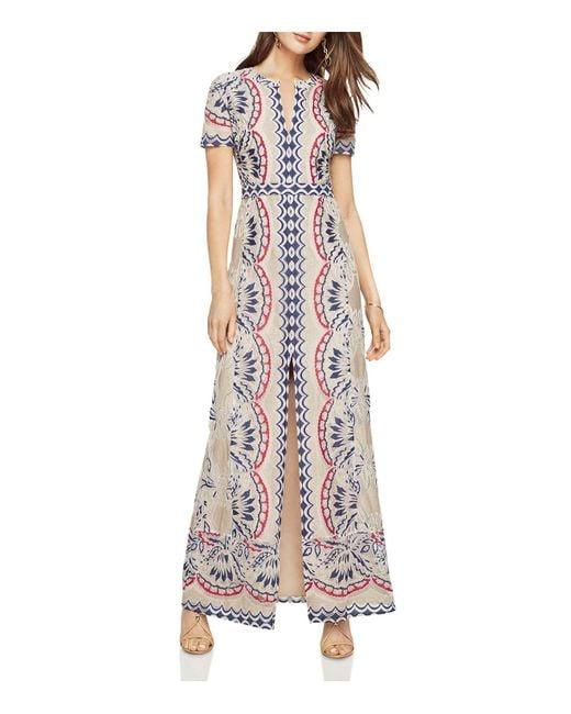 BCBGMAXAZRIA | Blue Print Burn-out Maxi Dress | Lyst