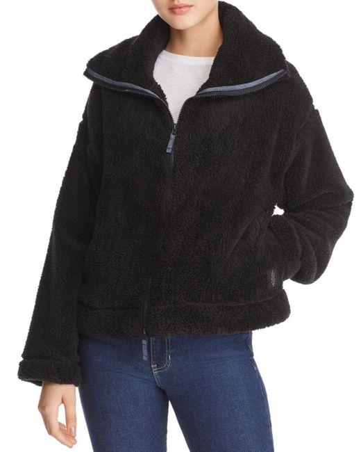 Free People - Black Dazed Fleece Jacket - Lyst