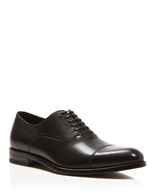 Ferragamo - Black Calf Leather Lace-up Dress Oxford for Men - Lyst