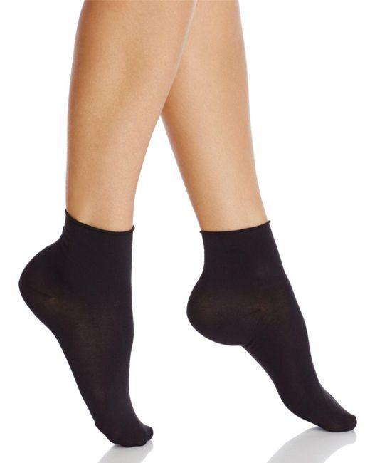 Falke - Black Roll-top Touch Short Socks - Lyst