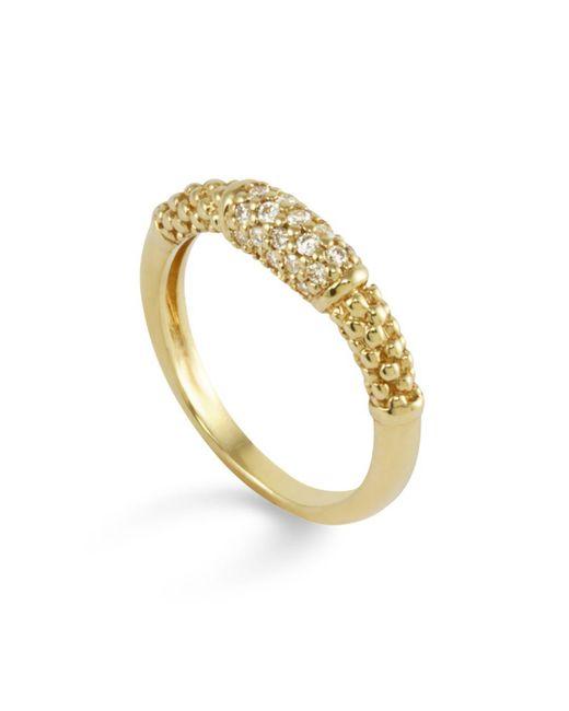 Lagos - Metallic 18k Gold And Diamond Ring - Lyst