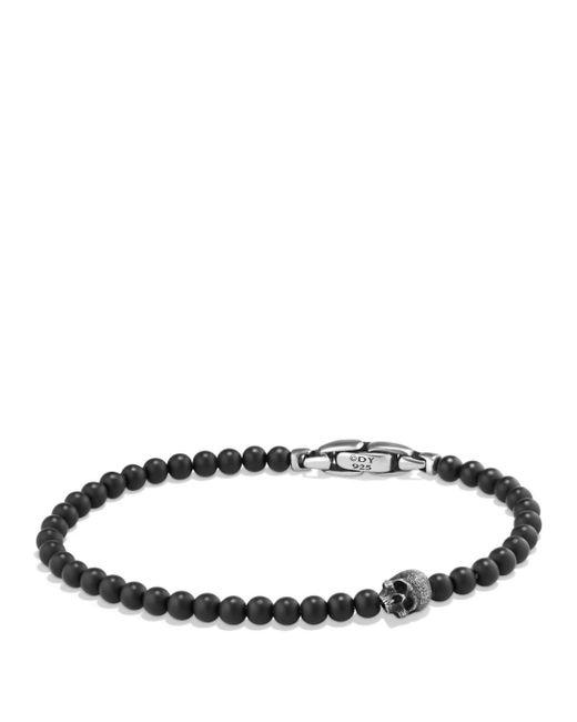 David Yurman - Spiritual Beads Skull Bracelet With Black Onyx In Sterling Silver for Men - Lyst